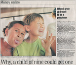 Naomi and Josh in article re Stakeholder pensions UK Daily Telegraph 010728